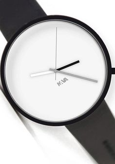 NAVA WHEREVER WATCH FOR TRAVELING PEOPLE - CLOUD BLACK/WHITE      Today in contemporary society we are all travelers constantly on the move from one city to another and often from one time zone to another.  For the globetrotting individual NAVA has conceived the new dual time watch Wherever designed by Denis Guidone.    Through the simple addition of an extra hour hand, wherever our journey takes us the wrist will always have the time