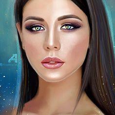 Portrait by Knorkina artist Digital oil
