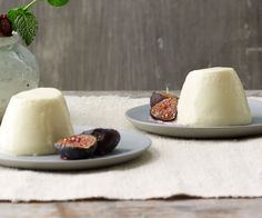 Goat Cheese Panna Cotta with Caramelized Figs