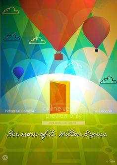Preview of the 2013 Milton Keynes promotional posters by England's popular artist, Robert Rusin.  www.mkfive.co.uk  www.zazzle.co.uk/ziggymk