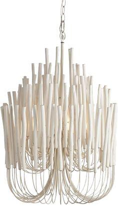 Tilda Natural Wood/Iron Chandelier - Arteriors   domino.com
