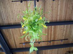 Modern Green Glass Chandelier