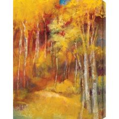 """Gallery Direct Mountain Memories I by Sylvia Angeli Painting Print on Canvas Size: 18"""" H x 24"""" W"""