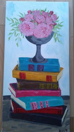 more books and flowers