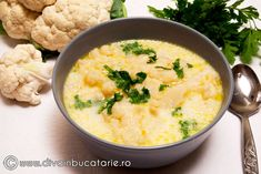 supa-crema-de-conopida Raw Vegan, Cheeseburger Chowder, Risotto, Foodies, Deserts, Soup, Ethnic Recipes, Postres, Soups