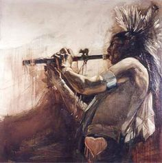 Plains Indian+paintings - The Fine Art . Native American Flute, Native American Paintings, Indian Paintings, American Indians, Sioux, Indian Drawing, South American Art, Native Art, Western Art
