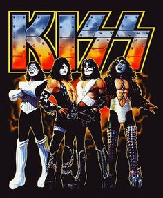 Kiss World, Rock Band Posters, Vintage Kiss, Kiss Art, Kiss Pictures, Band Wallpapers, Hot Band, Heavy Metal Music, Black Sabbath