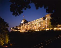 "The Grand Hotel on Mackinac Island. After traveling all that way I was so saddened that I couldn't go up on the veranda. I fell in love with the Grand Hotel when I saw the movie ""Somewhere in time."""