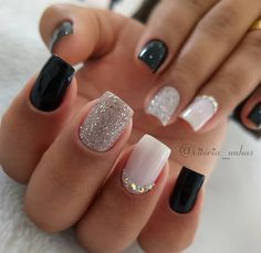Semi-permanent varnish, false nails, patches: which manicure to choose? - My Nails Stylish Nails, Trendy Nails, Cute Nails, My Nails, Bling Nails, Fall Acrylic Nails, Acrylic Nail Designs, Shellac Nail Designs, Diy Ongles