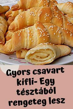 Croissant Bread, Creative Food, Bread Baking, No Bake Cake, Hot Dog Buns, Cake Recipes, Bakery, Food And Drink, Sweets