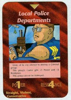 Illuminati card game - Local Law Enforcement