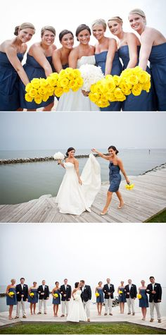 I adore everything about this wedding party orange instead of yellow!