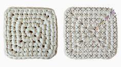 Ideas que mejoran tu vida Crochet Kids Scarf, Crochet Baby Beanie, Crochet Art, Crochet Home, Crochet Motif, Crochet Crafts, Crochet Stitches, Crochet Basket Pattern, Granny Square Crochet Pattern