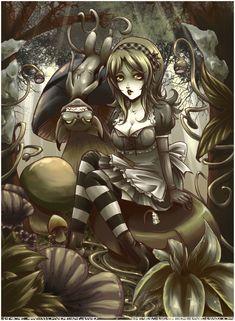 Alice In Wonderland by Sekra in Alice in Wonderland Fan Art