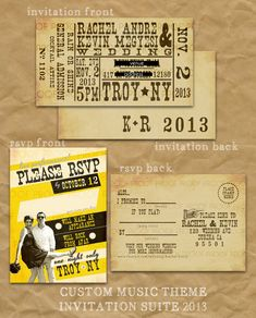 Concert Ticket Invitation Suite // Concert Poster RSVP Postcard