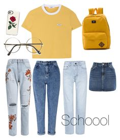 """""""Untitled #24"""" by zuairiarumaisah on Polyvore featuring Miss Selfridge, Yves Saint Laurent, Topshop, Vans and Casetify"""