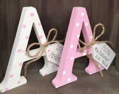 Shabby Chic Wooden Personalised Letter Initial Free Standing Baby Girl Boy Gift in Home, Furniture & DIY, Home Decor, Plaques & Signs | eBay!
