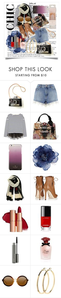 """""""CHIC❤😇"""" by selena-151 ❤ liked on Polyvore featuring Miss Selfridge, J.Crew, Miu Miu, Kate Spade, Accessorize, Givenchy, Jimmy Choo, MAC Cosmetics, Dolce&Gabbana and Pieces"""