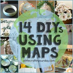 Who has been traveling this summer? If you have, leave a comment letting us know where you have been! Today we have 14DIYs using maps that you can make! It is the perfect way to recycle your map from your journey andcreate a handmade keepsake to remember the fun you had! 1. Map Bracelet 2. …