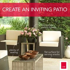 Here's how you can create an inviting patio just in time for #summer! #design #inspiraiton