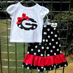 UGA little girl outfit