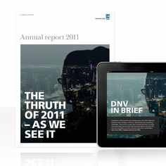 Annual report and a special application from Fasett and DNV – available worldwide. Annual Reports, App, Apps