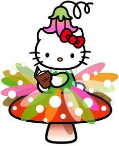 #HelloKitty #Fairies #SittingonMushroom