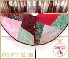 Batik & Velvet Crazy Patch Tree Skirt: Christmas in July with Fabric Depot | Sew4Home