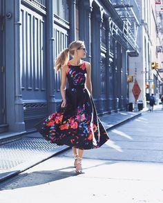 Coral Midi Dress And Floral Coat  Memorandum  Nyc Fashion