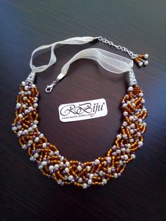 Necklace with glass beads. Glass Beads, All Things, Buy And Sell, Jewels, Ornaments, Handmade, Stuff To Buy, Hand Made, Jewelery
