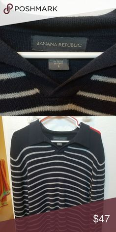 L Banana Republic V Collared Sweater Like new. Think I wore it to a party oncd n dry cleaned. Banana Republic Sweaters V-Neck