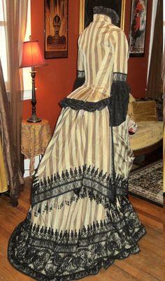 Gothic Victorian Masterpiece Steampunk Silk by MorganaFaeCouture. Gorgeous !