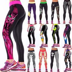 Womens Yoga Workout Gym Print Sports Pants Leggings Fitness Stretch Dr Trouser http://kundaliniyogameditation.com/