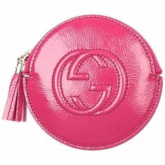 0ba0dbfea53934 Gucci Fushia Pink Patent Leather Zip Coin Purse 337946 AB80G Fushia Pink,  Guccio Gucci,