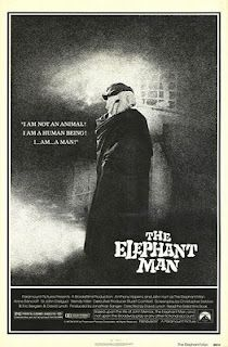 """""""The Elephant Man"""" - (1980) Directed by David Lynch. A Victorian surgeon rescues a heavily disfigured man who is mistreated while scraping a living as a side-show freak. Behind his monstrous facade, there is revealed a person of intelligence and sensitivity."""