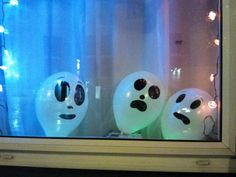 """""""Boo-loons"""" are a quick and easy way to decorate any window"""