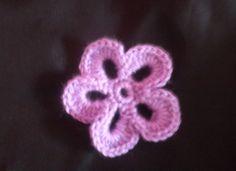 πλεκτο λουλουδι Νο1-ευκολο και γρηγορο(plekto louloudi No1-efkolo kai gr...