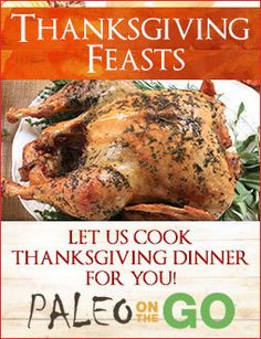 For a limited time, get your $20 off + free delivery when you order an entire Paleo or AIP Thanksgiving Feast!
