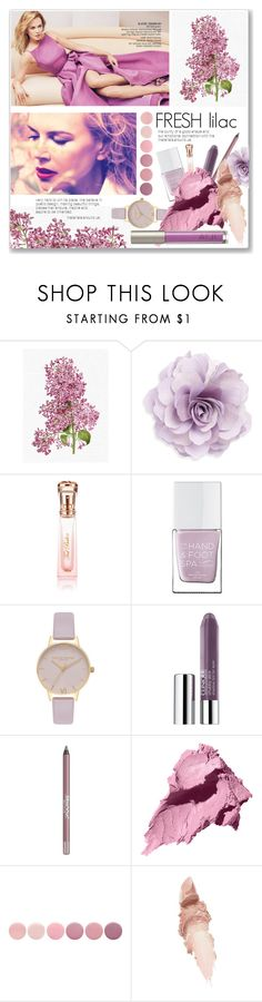 """FRESH lilac"" by mariarty ❤ liked on Polyvore featuring beauty, Cara, Ted Baker, The Hand & Foot Spa, Olivia Burton, Clinique, BeYu, Bobbi Brown Cosmetics, Deborah Lippmann and Maybelline"