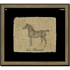 Melissa Van Hise Horse on Linen II Wall Art (£130) ❤ liked on Polyvore featuring home, home decor, wall art, horses, horse wall art and horse home decor