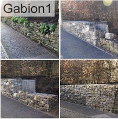 Before during and after of this gabion retaining wall http://www.gabion1.co.uk