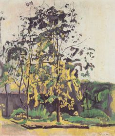 Ferdinand Hodler / Bäume im Ateliergarten 1917