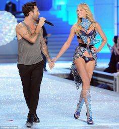 Adam Levine Girlfriend Victoria Secret | of love: Maroon 5 frontman Adam Levine serenades his model girlfriend ...