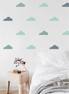 Little Clouds Vinyl Wall Decals Various Styles & by FlukeDecor