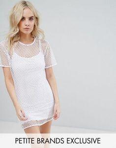 Missguided Petite Fishnet Cami T-Shirt Dress