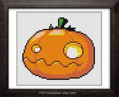 0186HolloweenPumpkin  PDF Cross Stitch pattern  by PDFcrossstitch, $6.00