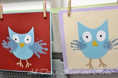 I think I will use Bre's thumbs for eyes and feet! Fall Kids Crafts - All Things Heart and Home