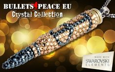 Black Crystals, Swarovski Crystals, Peaceful Words, Bullet Casing, Crystal Collection, Silver Jewelry, Fashion Jewelry, Beaded Bracelets, Twitter