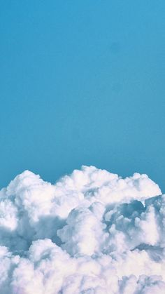 #wallpaper #iphone #android White Wallpaper Iphone, Blue Sky Wallpaper, Cloud Wallpaper, Wallpaper Quotes, Tumblr Wallpaper, Wallpaper Backgrounds, Homescreen Wallpaper, Blue Wallpapers, Cute Simple Wallpapers