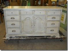 Old dresser now painted white